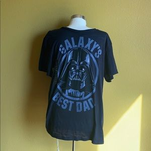 Star Wars Galaxy's Best Dad Navy Blue T-Shirt Sz L